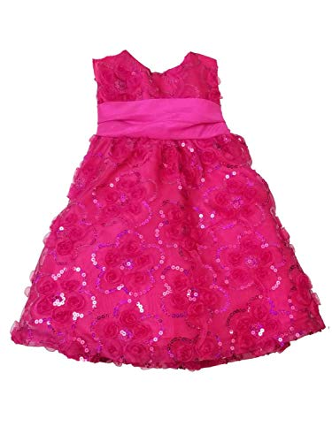 Rare Editions Holiday Dress - Rare Editions Infant Baby Girls Pink Christmas Holiday Party Dress Frilly Glitter 12M