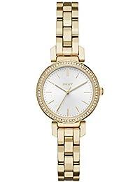 Womens Ellington NY2634 Gold Stainless-Steel Japanese Quartz Fashion Watch. DKNY
