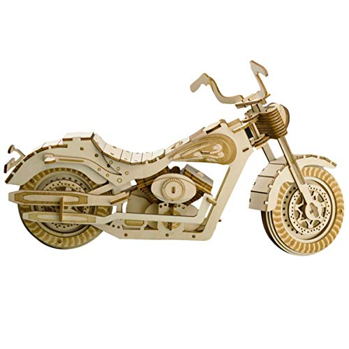 AHWZ 3D Puzzle DIY Wooden Jigsaw Puzzle Toy Harley Motorcycle