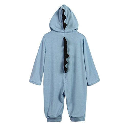 CKLV Interesting Romper Jumpsuit Outfits Clothes,Infant Baby Kids Dinosaur Hooded Romper Jumpsuit Outfits Clothes (Blue, 12-18 Months) by CKLV (Image #1)