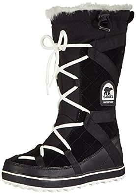 Sorel Women's Glacy Explorer Snow Boot, Black, 5 M US