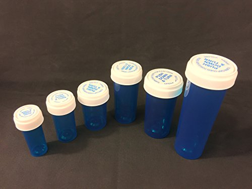 DRAM 6 PACK BLUE Transparent REVERSIBLE LID CONTAINERS (WHTIE -