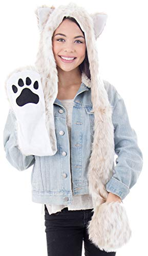 (Simplicity 3 in 1 Lovely Animal Beanie Cosplay Hats Scarf with Mittens,)