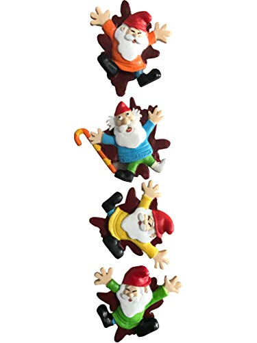 By Mark & Margot - Garden Gnome Magnet - Squished Mischievous Gnomes Massacre Refridgerator Decor - Best For Home Office (Gnome Office)