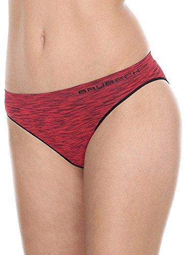 Brubeck–bi100803x SET Fusion Bikini Slips Mujer | Funcional | sin costuras | tejido capa de 2| secado rápido. rojo oscuro