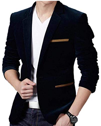 In Abbigliamento A Velluto Cappotto Tinta Navy Kangqi Blue Coste Uomo Da Unita Con wgaaqZ