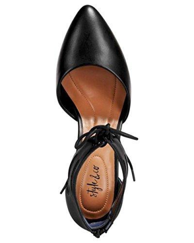 Style & Co. Frauen Vanaa Geschlossener Zeh Knoechel Riemen D-Orsay Pumps Black