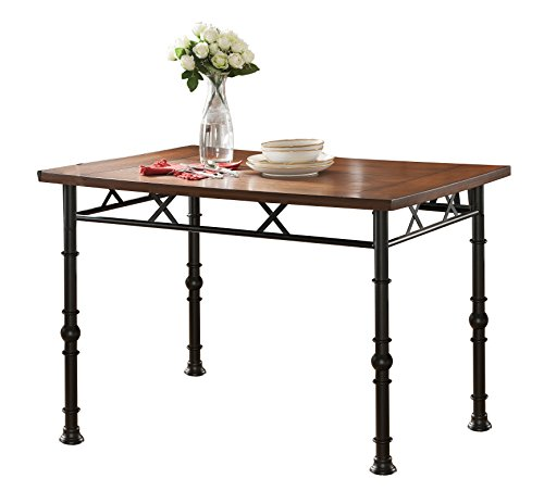 Kings Brand Furniture Wood with Metal Dining Dinette Table, - Dining Ash Room Table