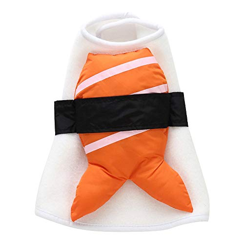 Wiwsi Pet Dog Cat Funny Design Halloween Show Party Fancy Dress Costume Outfit(XL,Sushi) ()