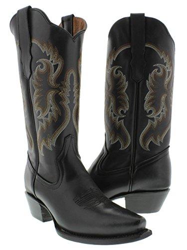 Cowboy Professionale Da Donna Nero 590 Stivali Da Cowboy In Pelle Classica  Snip Toe Nero. scarpe ... fd2fd6b0de9