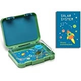 Kidtainers - Sturdy Leakproof Bento Lunch Box for Kids with Printable Solar System Activity Book, School Schedule and Name Labels