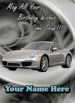 A5 Personalised Porsche 911 Car Birthday Card RefPID260 Amazoncouk Toys Games