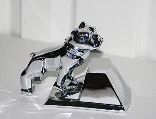 (Mack Trucks Polished Chrome Large OEM Factory Bulldog Semi Truck Hood Ornament )