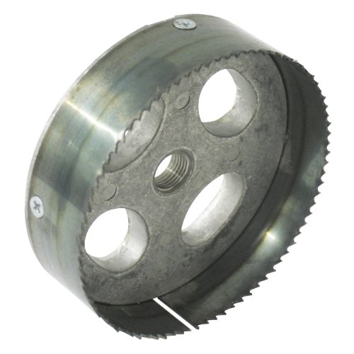 Carbide Steel Toothed Blade (Greenlee 35728 Recessed Light Hole Saw, Steel Toothed, 5-3/8-Inch)