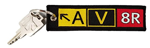 Aviator (AV8R) airport taxiway sign keychain