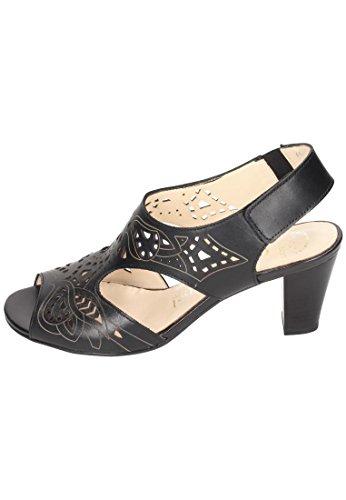 in Schwarz Schwarz Sandaletten Damen Comfortabel 6txZaT
