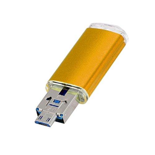 1 Pen Flash Drive - Gotd USB 2.0 1GB/2GB/4GB/8GB/16GB/32GB/64GB OTG Metal Flash Drive Memory Stick Storage Pen Disk Digital U Disk (Gold, 32GB)