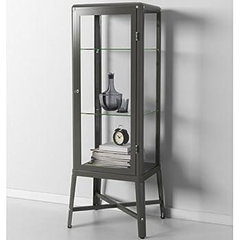 Ikea fabrikor glass door cabinet dark gray - Vitrina cristal ikea ...