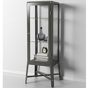 Genial Ikea Fabrikor Glass Door Cabinet , Dark Gray, Lockable , Industrial Design