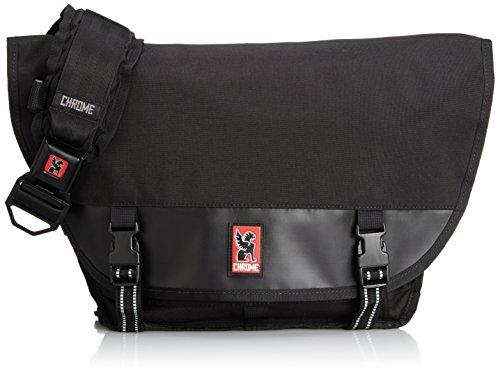 Chrome BG-001-ALLB-101 Black/Black One Size Mini Metro Waterproof Left Shoulder Messenger Bag with Black Buckle
