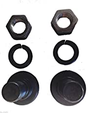 Replacement Bush Hog Rotary Cutter Blade Bolt Kit Code 63607, 2 Bolts with Nuts and Lock Washers