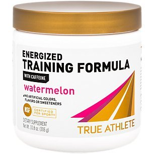 True Athlete Energized Training Formula with Caffeine Watermelon, Supports Energy, Endurance Performance NSF Certified for Sport, 90 Servings 10.8 Ounces Powder