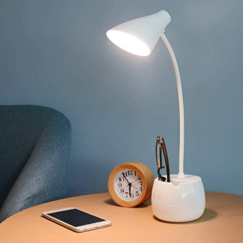 Pick Ur Needs® Rechargeable LED Eye-Caring Table Desk Lamp, Dimmable Office Lamp with USB Charging Cable, Touch Control…