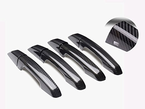 Eppar New Carbon Fiber Handle Covers (One Set) for Jaguar F-Pace XF XE (F-Pace 2015-2017 (door With Touch Auto Lock)) by Eppar