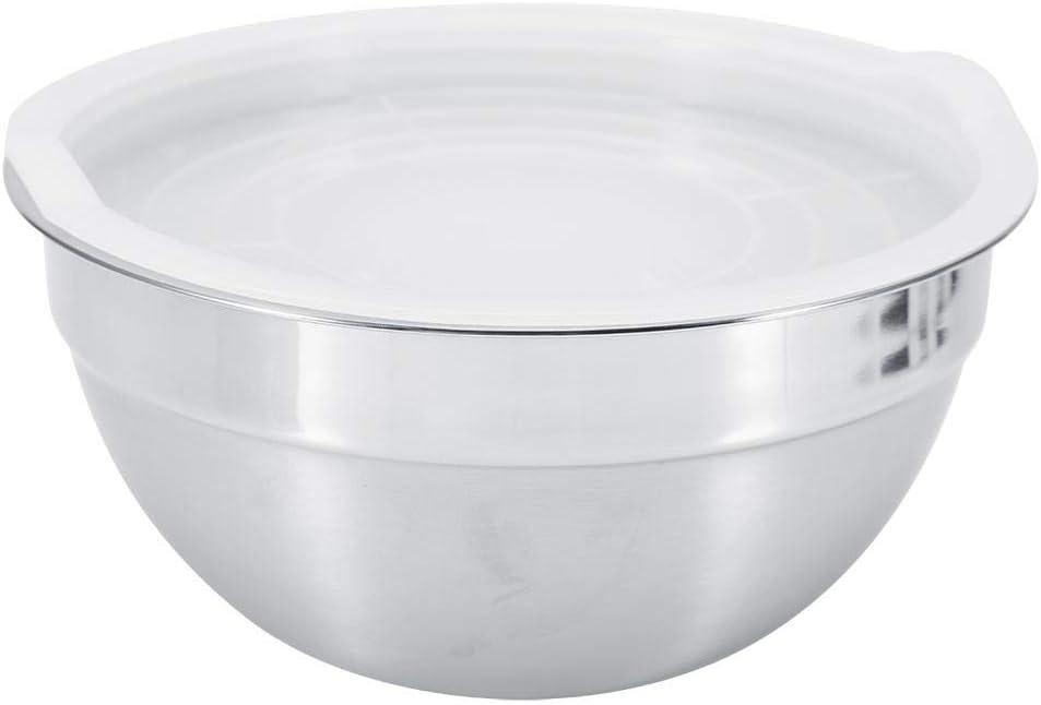 18cm Bol /à m/élanger avec couvercle acier inoxydable Plus /épais bol /à m/élanger Cuisson des bols /à salade Bols de cuisson en m/étal ustensiles de cuisine