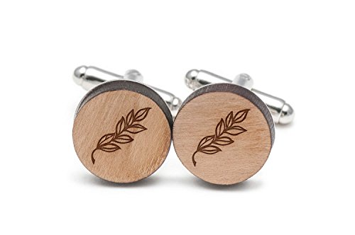 Wooden Accessories Company Laurel Branch Cufflinks, Wood Cufflinks Hand Made in The USA