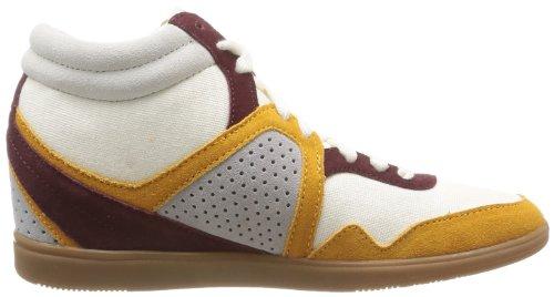 Le Coq Sportif - Sneaker Monge Heavy Cvs, Donna, Beige (Beige (Chaux/Retro Bordeaux)), 40