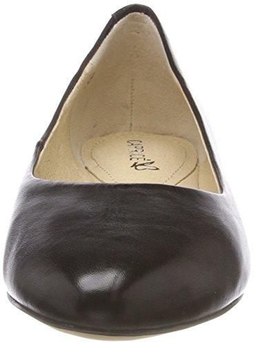 Caprice Women's 22107 Ballet Flats, Navy Dots Schwarz (Black Nappa 22)
