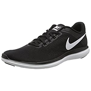 NIKE Women's Flex 2016 RN Running Shoe, Black/White/Cool Grey, 8 B(M) US