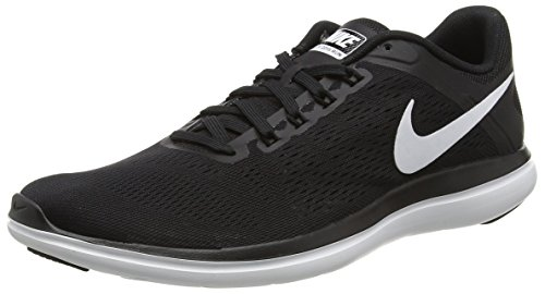 NIKE Women's Flex 2016 RN Running Shoe, Black/White/Cool Grey, 7.5 B(M) US