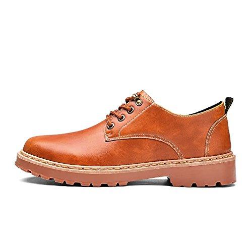 Dimensione Casuale Di Eu Cuoio Scarpe Confortevole color Giallo Moderne Da Uomo Oxford Nero Punta scarpe 39 Hilotu Formale aU8qX6W