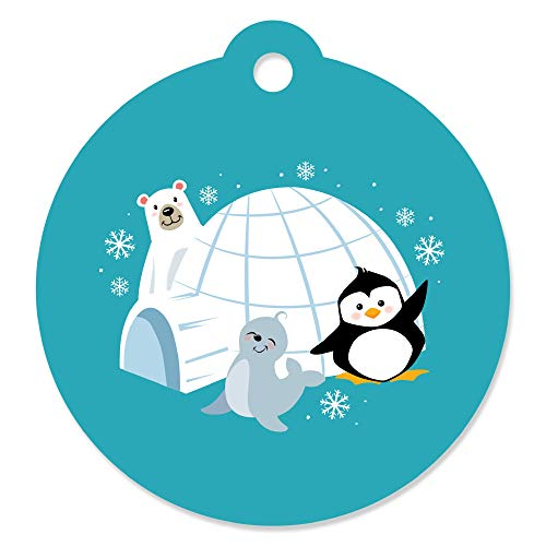 Arctic Polar Animals - Winter Baby Shower or Birthday Party Favor Gift Tags (Set of 20) ()