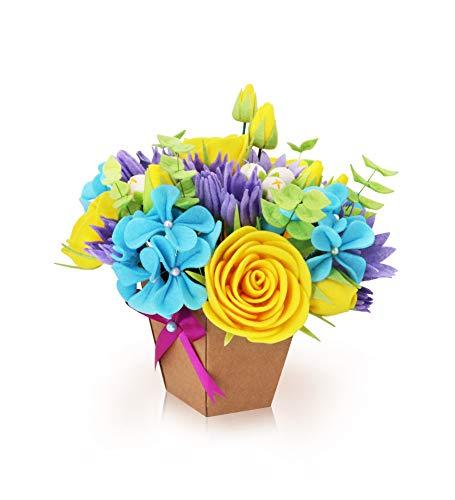 (QKIYI Sewing Kits Felt Flower Kits Felt Applique Ornament Kits DIY Felt Kit)