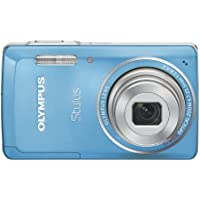Olympus Stylus 5010 14 MP Digital Camera with 5x Wide Angle Dual Image Stabilized Zoom and 2.7-inch LCD (Blue) (Old Model)