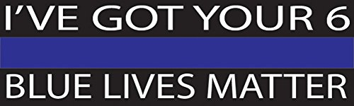 10in x 3in Large Blue Lives Matter Flag Auto Decal Bumper Sticker Support Law Enfocement Police Officers Thin Blue Line (I've Got Your)