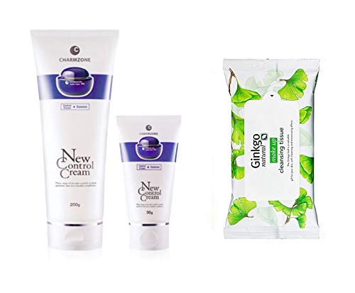 Charmzone New Control Cream 200ml & 50ml with Cleansing Tissue 10 Sheets (Control Cream)