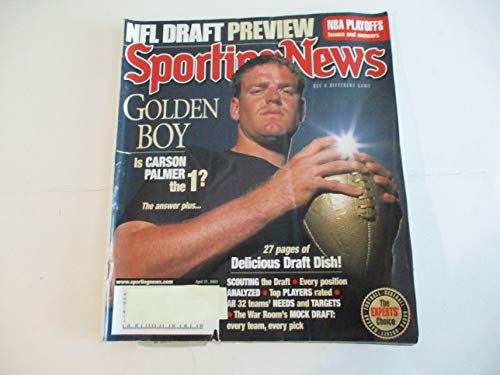 APRIL 21, 2003 SPORTING NEWS MAGAZINE FEATURING CARSON PALMER *GOLDEN BOY* *IS CARSON THE 1?* *DELICIOUS DRAFT DISH* *NFL DRAFT - Dishes Collectibles Childrens