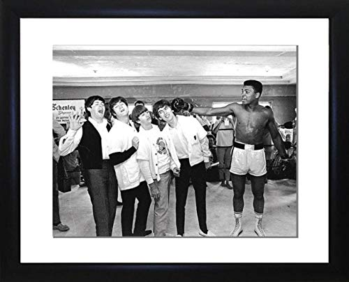 Picture Favourites Muhammed Ali meets the Beatles Framed Photo