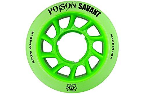 Atom Poison Savant Skate Wheels Green Set of 8 by ATOM