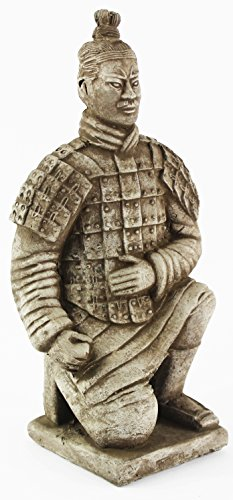 Chinese Warrior Concrete Asian Garden Statue Cement Figur...