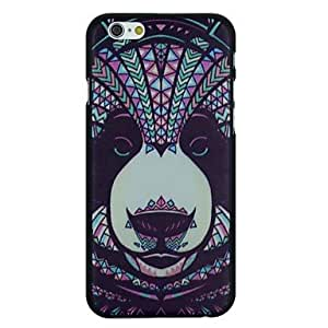 LZX Folk Style Panda Pattern Pattern PC Hard Back Cover Case for iPhone 6 Plus