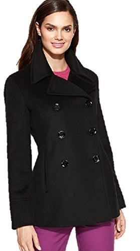 Calvin Klein womens Petite Double Breasted Peacoat