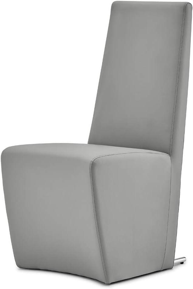 Zuri Furniture Boston High Back Modern Dining Chair – Dark Grey