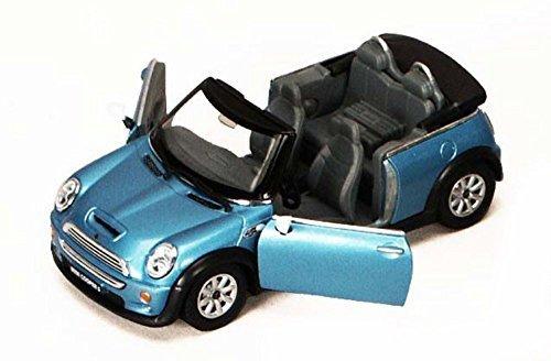 Mini Cooper S Convertible, Blue - Kinsmart 5089D - 1/28 scale Diecast Model Toy Car ()