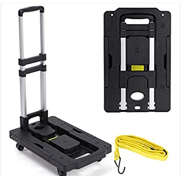 Carro de la compra plegable con escalera, carretilla para escaleras, carretilla para escaleras, hasta 200 kg, plegable, 6 R, color negro: Amazon.es: Bricolaje y herramientas