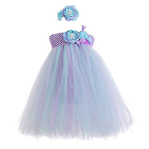 Halloween Mermaid Costume for Little Girls Birthday Colorful Tutu Dress ()